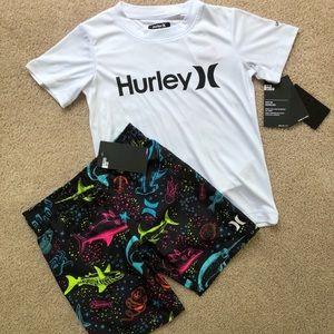 Size 7 Hurley board shorts & top NWT